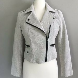NWT Metaphor Jacquard Moto Zip Up Jacket Size 4